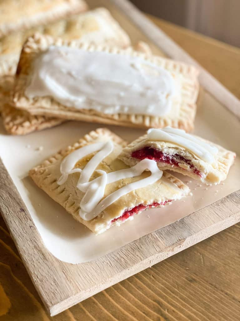 Gluten-Free Pop Tarts on a plate with frosting