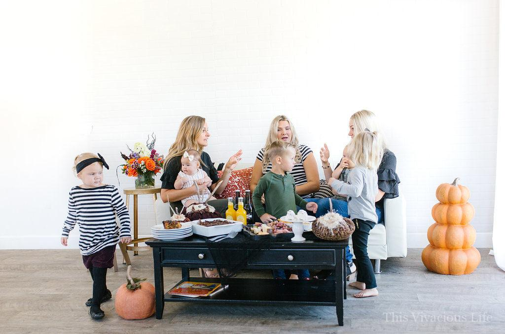 This Halloween mom n' me brunch is a fun and festive way to celebrate the holidays with friends and your little ones. It's a fun Halloween party!