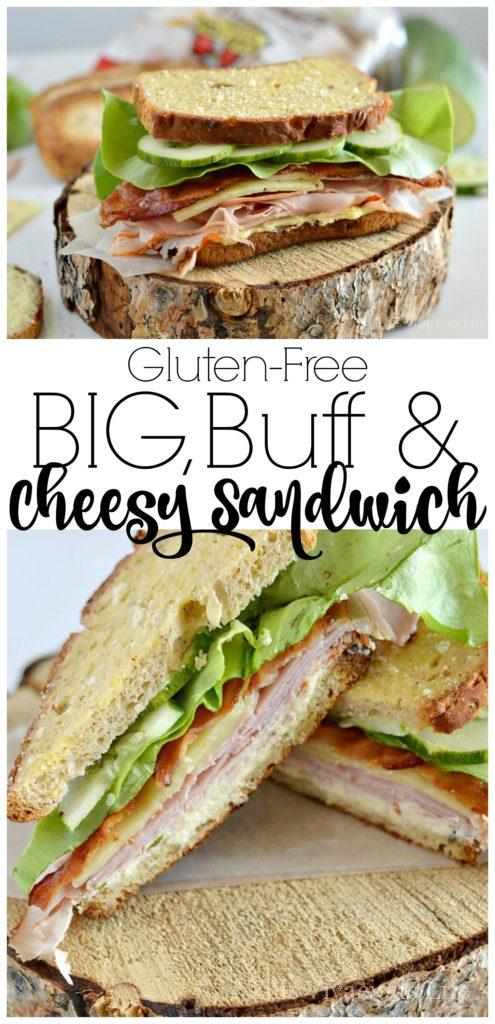 Big, Buff & Cheesy Gluten-Free Sandwich | gluten free lunch ideas | gluten free sandwich recipes | lunch recipes gluten free | easy gluten free recipes | how to make a gluten free sandwich | homemade gluten free sandwich recipes || This Vivacious Life