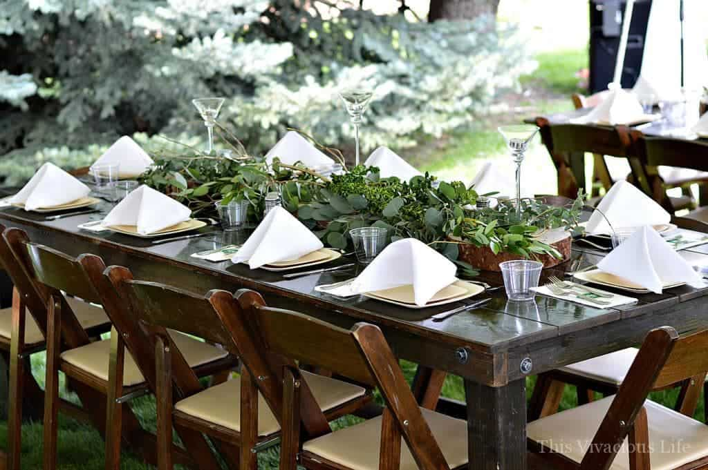 Earthy Outdoor Wedding Decor