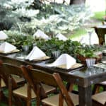 Earthy Outdoor Wedding Decor