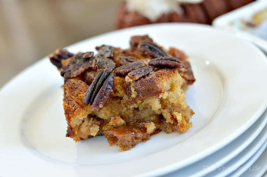 Gluten-Free Pecan Pie Bread Pudding Breakfast Casserole