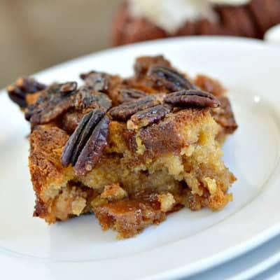 Gluten-Free Pecan Pie Bread Pudding
