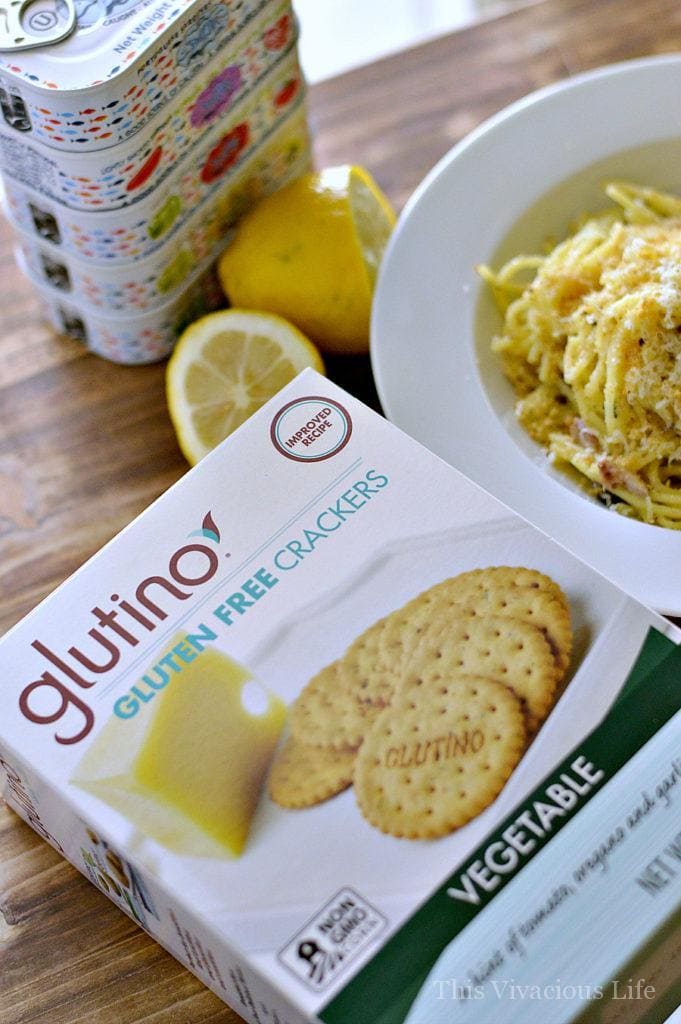 This gluten-free seafood pasta with lemon capers is absolutely delicious and straight out of Italy! The fresh parmigiano and gluten-free breadcrumbs are the crowning jewel to this dinner. | gluten free pasta dishes | gluten free italian recipes | gluten free dinner recipes | how to homemade seafood pasta | gluten free seafood recipes | recipes using lemon capers | easy dinner recipes | pasta dinner recipes || This Vivacious Life