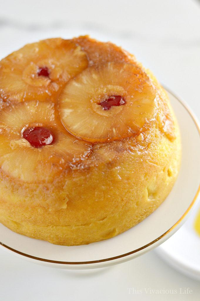 This instant pot gluten-free pineapple upside down cake is a decadent dessert that can be made in minutes!