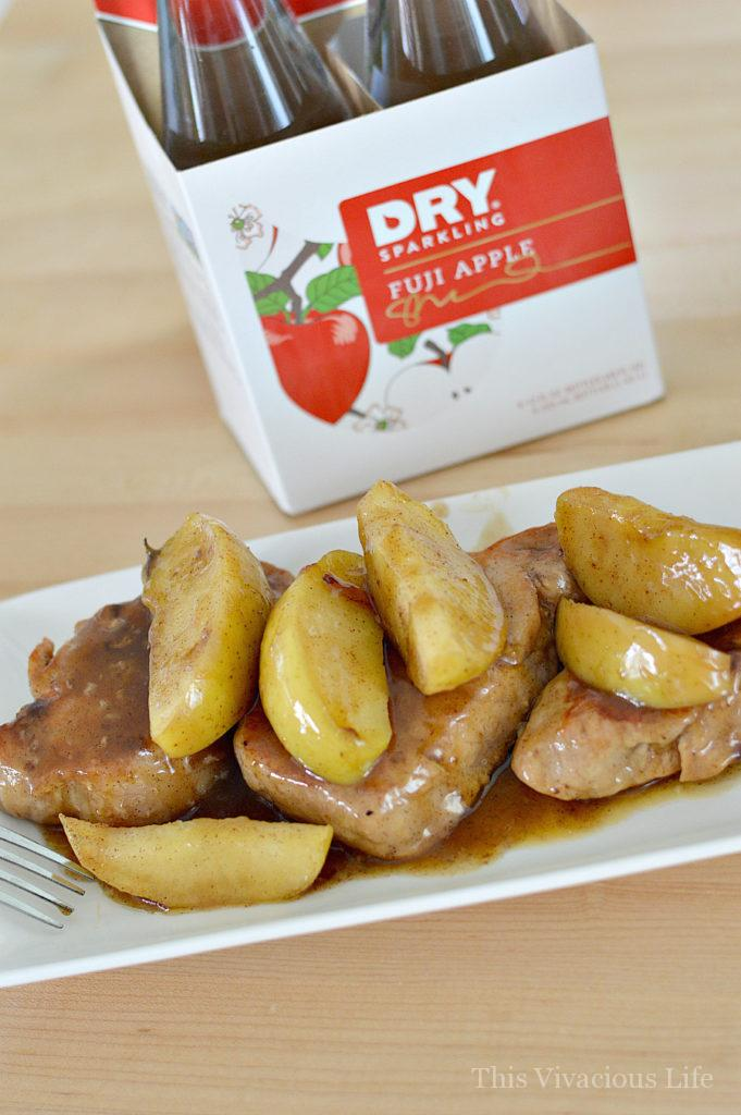 This gluten-free instant pot pork with cinnamon apples is a quick and easy dinner that can be prepared and on the table in under 25 minutes. | instant pot pork recipes | quick dinner recipes | gluten-free instant pot recipes | gluten-free pork recipes | gluten-free dinner recipes | homemade instant pot recipes | easy instant pot recipes | healthy instant pot recipes || This Vivacious Life