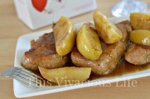 Instant Pot Pork with Cinnamon Apples