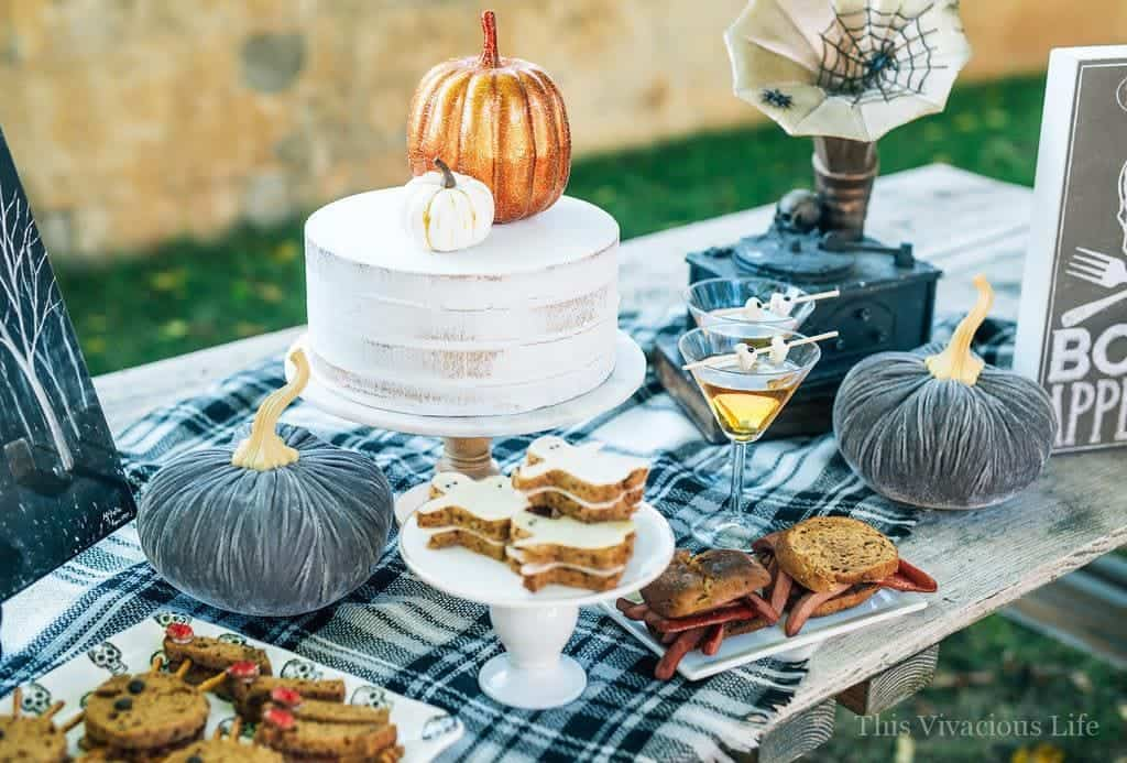 This spooky sandwich bar Halloween party is such a fun one especially for little ones. They will love the variety of fun sandwiches and eerie decor. | fun halloween ideas for kids | halloween party ideas | halloween recipe ideas | fun halloween food for kids | kid-friendly halloween recipes | halloween recipes for kids | spooky recipe ideas || This Vivacious Life