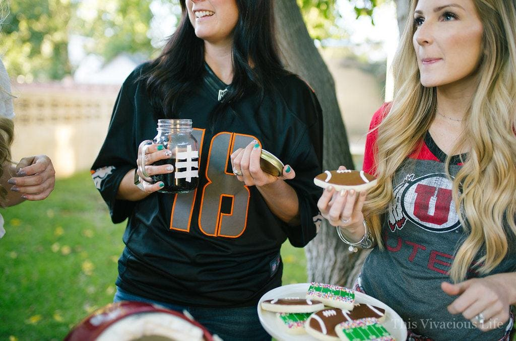 Ladies Night Football Party for Your Next Girls Night | football party ideas | tailgating party tips | gameday party ideas | gameday tips and tricks | how to host a football party | hosting a tailgating party | tailgate party tips || This Vivacious Life