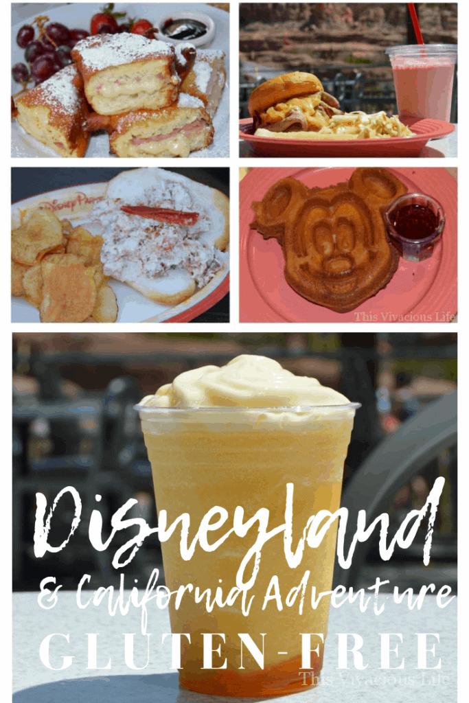 Gluten-free Disneyland food collage