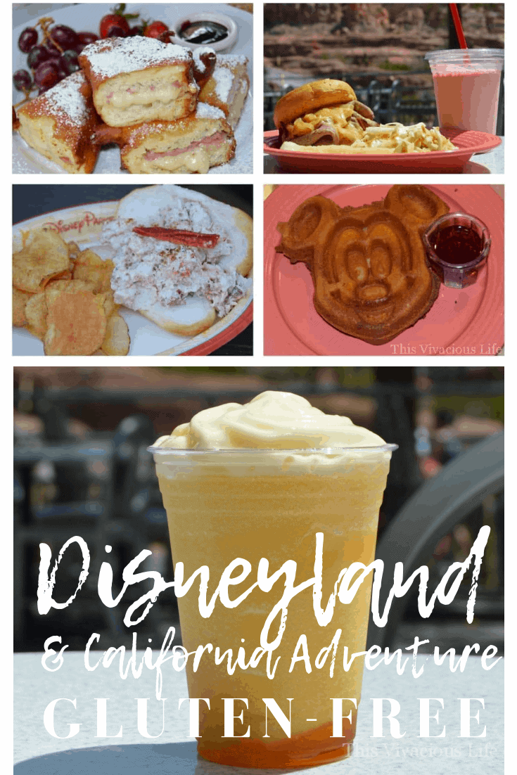 Gluten-free Disneyland food finds that rock! Both Disneyland & California Adventure was one of the tastiest vacations we have ever been on! There were options for everyone. From fancy food and novelty items like the gluten-free monte cristo to on-the-go eats like gluten-free pizza and sandwiches, Disneyland has it all! #glutenfreedisneyland #glutenfreecaliforniaadventure #disneydining #disneyglutenfree #disneylandfood