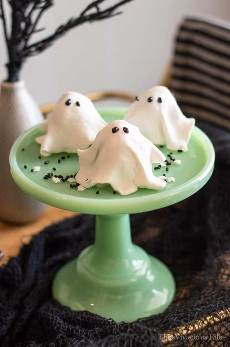 These no-bake ghost cookies are SO delicious that you won't be able to eat just one! They are so easy to make and couldn't be cuter. They are gluten-free but nobody would every know. They are perfect for your Halloween party.