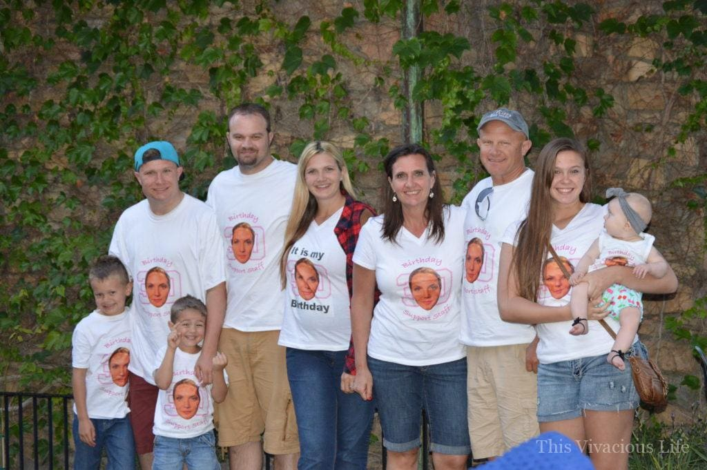 Large family photo at Disneyland