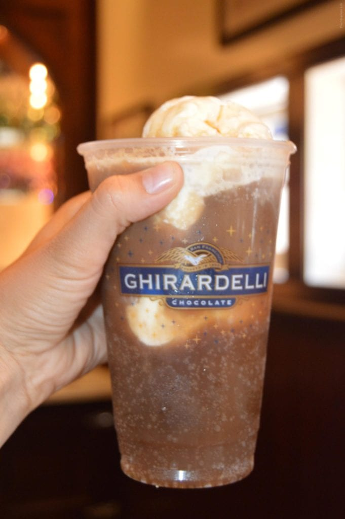 Ghirardelli root beer float