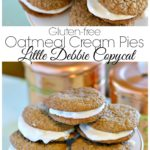 If you guys are like me then finally being able to have gluten-free oatmeal cream pies Little Debbie copy cat recipe is a dream come true! I used to love these cookies so much as a kid and could literally have eaten the whole box if my mom wouldn't let me. Something about the flat, sweet cookie just just stole my heart.