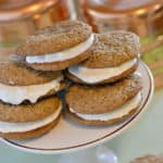 These gluten-free oatmeal cream pies Little Debbie copycat are the BEST cookies you will find!