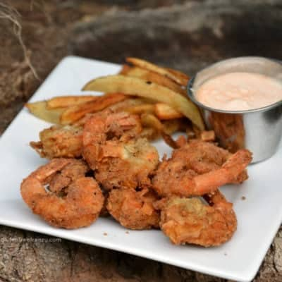 Gluten-Free Coconut Popcorn Shrimp w/ Spicy Mayo