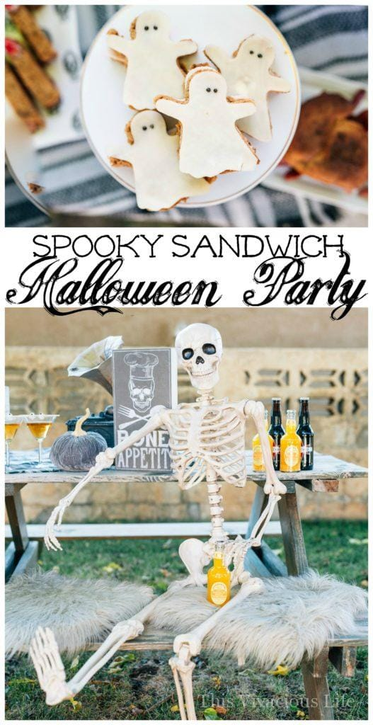 This spooky sandwich bar Halloween party is such a fun one especially for little ones. They will love the variety of fun sandwiches and eerie decor. | fun halloween ideas for kids | halloween party ideas | halloween recipe ideas | fun halloween food for kids | kid-friendly halloween recipes | halloween recipes for kids | spooky recipe ideas || This Vivacious Life #halloween #spooky #glutenfree #glutenfreehalloween #sandwiches #kidfriendly #halloweenparty #kidshalloween #thisvivaciouslife