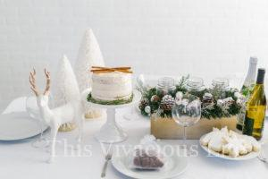 White Christmas Dinner Party & Gluten-Free Eggnog Cake
