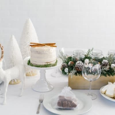 White Christmas Dinner Party & Gluten-Free Eggnog Cake + GIVEAWAY