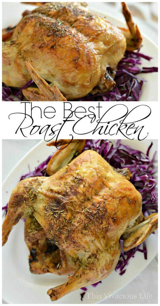Easy Roasted Chicken Recipe | best roasted chicken | easy chicken recipes | easy dinner recipes | whole roasted chicken | oven roasted chicken | gluten-free chicken recipes || This Vivacious Life #roastedchicken #easydinner #glutenfreedinner