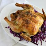 This is the BEST roast chicken recipe! You are going to love how simple and easy it is to make. It's a fantastic Sunday dinner.