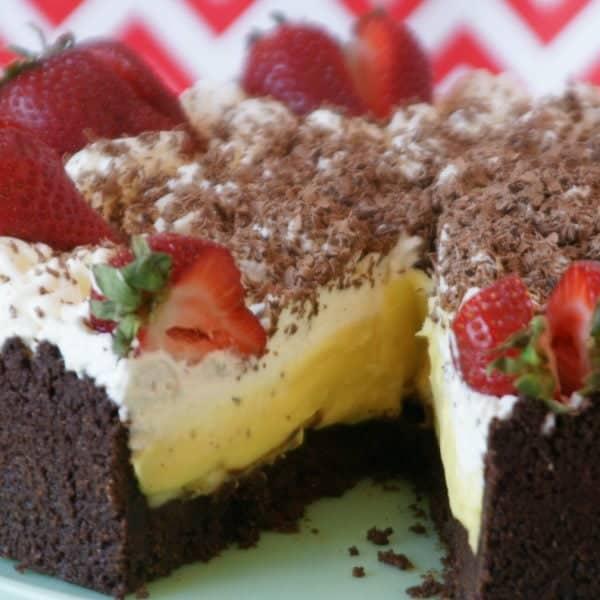 Gluten-Free Banana Black Bottom Pie + GIVEAWAY