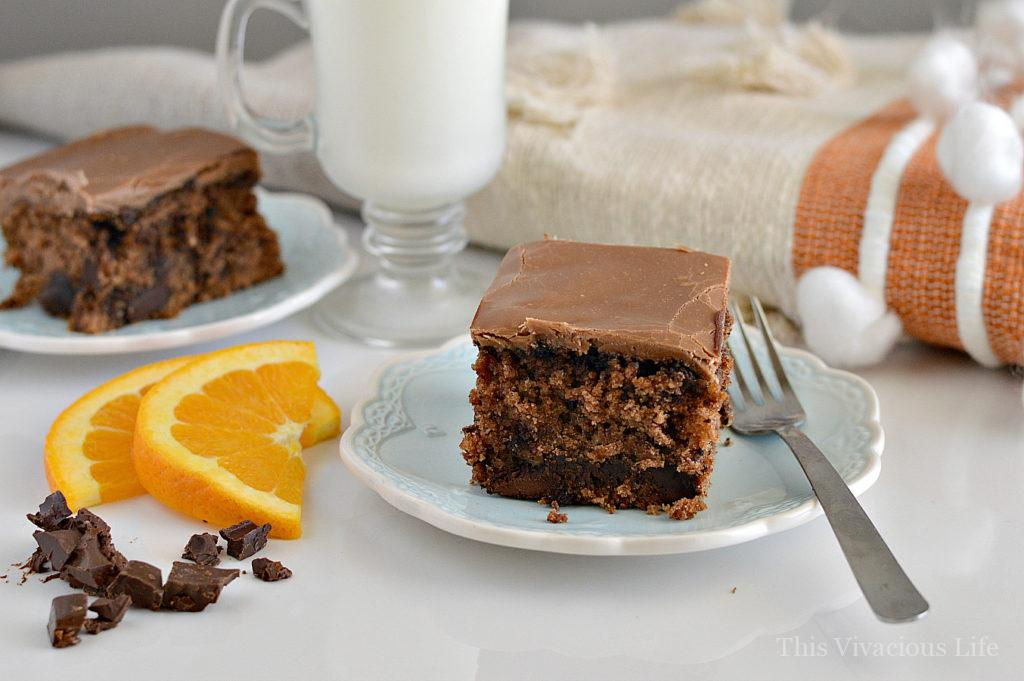 This gluten-free chocolate orange oatmeal cake is seriously the BEST cake you will ever eat! The marshmallow chocolate frosting is especially tasty. Everyone will love it whether gluten-free or not.