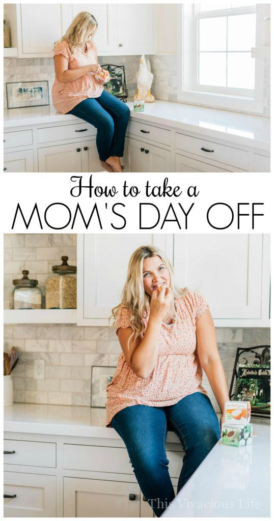 How to take a mom's day off is easier than you think...and you deserve it! | encouragement for moms | self care for busy moms | how to take a mom's day off | mom's day off ideas || This Vivacious Life #encouragementformoms #motherhood #motherhoodencouragement #selfcaretips