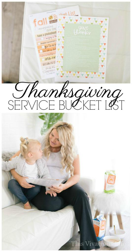 I am so excited to share this Thanksgiving service bucket list with all of you because it has given us more direction this fall season. | thanksgiving service opportunities | give back during the holidays | serve others during the holidays | how to serve others during the holidays || This Vivacious Life + @goodkarmafoods AD #serviceideas #servingothers #thanksgiving #giveback