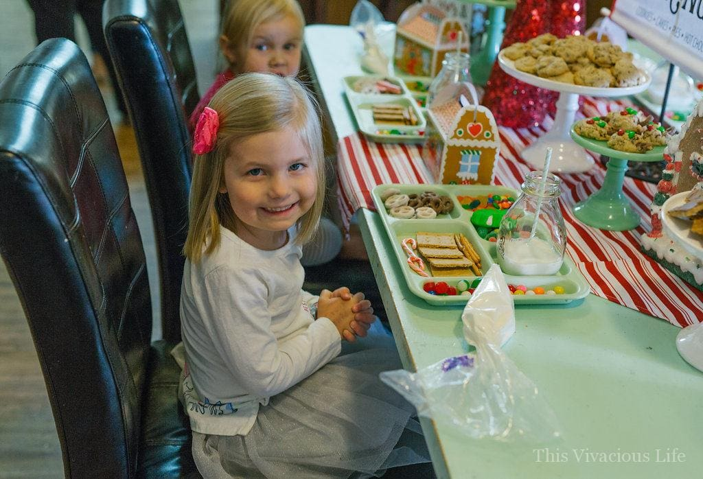 Gingerbread Decorating Party and Holiday Get Together | holiday party ideas | holiday party for kids | kids christmas party ideas | christmas parties for kids | gingerbread themed party | themed christmas party ideas | gluten free christmas || This Vivacious Life #christmasparty #kidschristmas #gingerbread