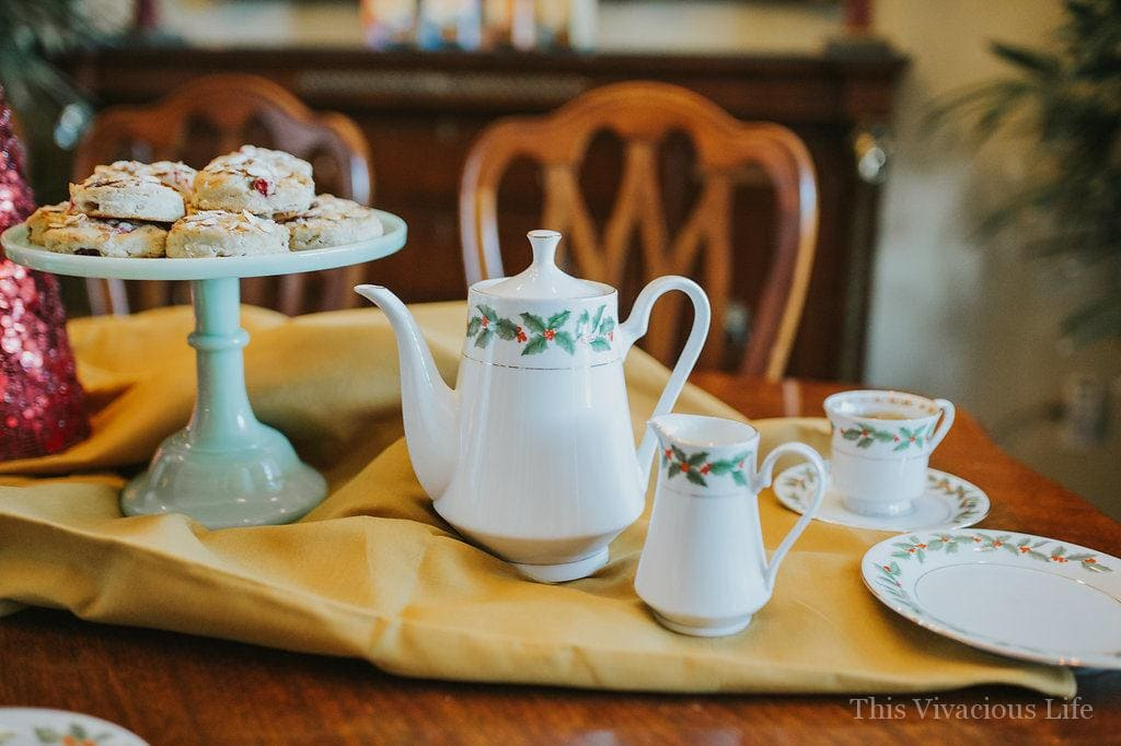 This holiday traditions and tea party is a fun way to celebrate the holidays with your favorite gals making Christmas Eve boxes and enjoying a traditional tea party. | holiday tea party ideas | holiday party ideas | Christmas party ideas | how to host a holiday tea party | unique holiday party ideas || This Vivacious Life #holidayparty #christmasteaparty #christmaspartyideas