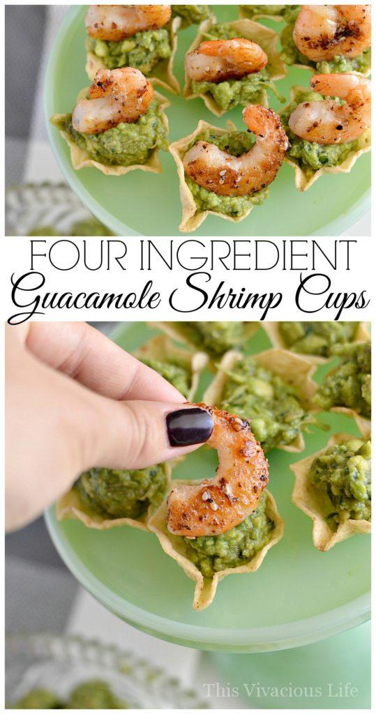 4-Ingredient Guacamole Shrimp Cups for New Years Eve   gluten-free shrimp recipes   gluten-free party recipes   gluten-free appetizers   gluten-free seafood recipes   gluten-free dip recipes    This Vivacious Life #glutenfreeappetizer #glutenfreeshrimp #glutenfreeseafood