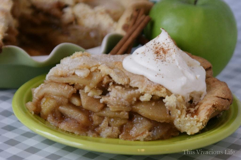 Gluten-free apple pie on a plate