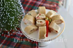 Christmas Party Pinwheels Tortilla Roll Ups + GIVEAWAY