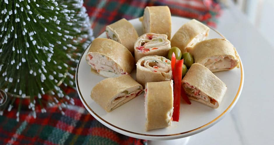 Christmas Party Pinwheels Tortilla Roll Ups + GIVEAWAY