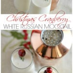 This Christmas white Russian mocktail is a family favorite that is easy to make and so delicious! It's perfect for serving up during your holiday parties or on new years eve.