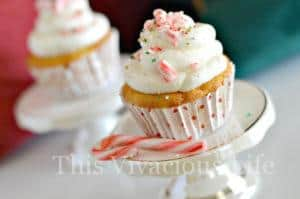Gluten-Free Candy Cane Cupcakes