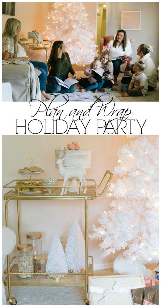 This plan and wrap holiday party is the perfect way to get organized before the rush of holiday season. Passion Planner makes it easy and fun! | Plan and Wrap Holiday Party with Passion Planner | holiday gift wrapping party | planning your holiday gifts | gift giving organization tips | how to host a plan and wrap gift party | holiday party ideas | holiday organization tips || This Vivacious Life #wrapparty #giftorganization #holidayorganizing