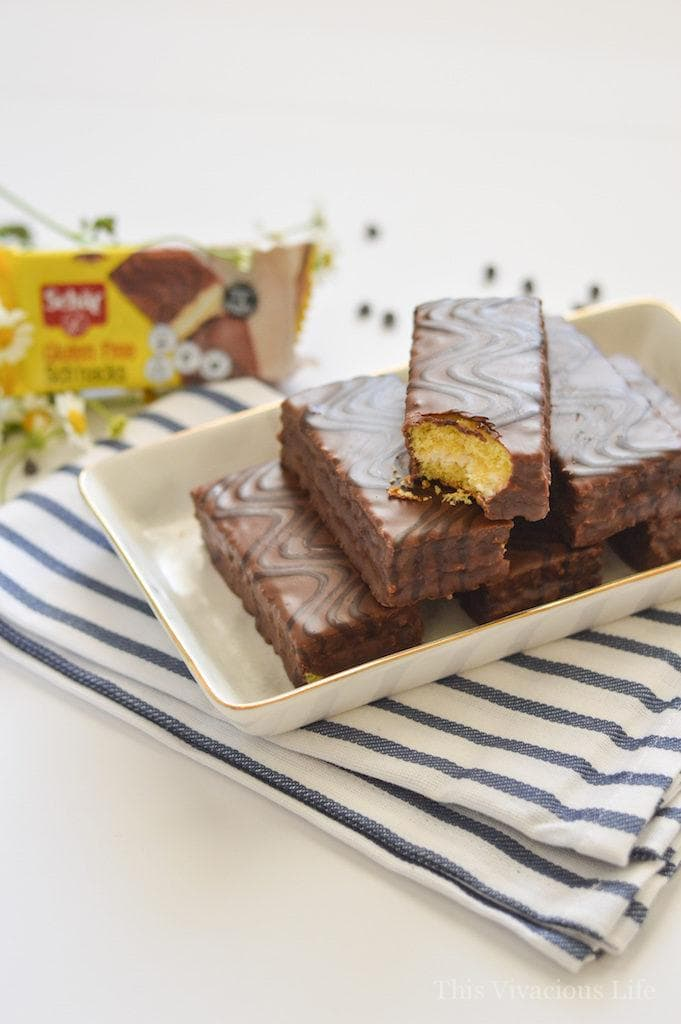 AD These gluten-free zebra cakes from Schar are such a tasty treat to add to your cookie exchange spread!