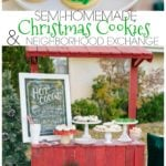 These semi-homemade Christmas cookies and neighborhood exchange are sure to brighten the holidays for those living around you.