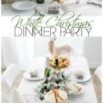 You guys are going to love this white Christmas dinner party and gluten-free eggnog cake! From the menu to the decor we kept it simple and sleek.