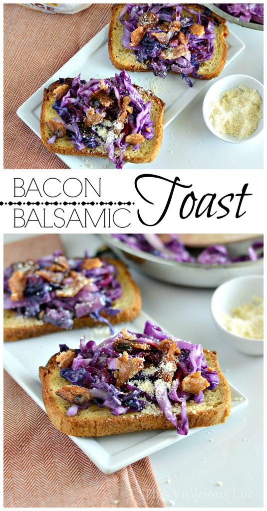 This gluten-free bacon balsamic toast is flavorful, full of color and so delicious! | gluten-free lunch recipes | healthy gluten-free recipes | gluten-free bread recipes | easy lunch recipes | healthy lunch recipes || This Vivacious Life #toastrecipes #glutenfree #easylunch
