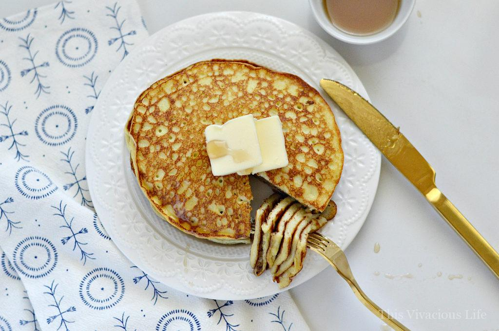 These gluten-free vanilla bean crepe cakes are the perfect mixture of pancakes and crepes. They will soon become your families favorite breakfast.