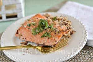 One Pan Honey Ginger Salmon