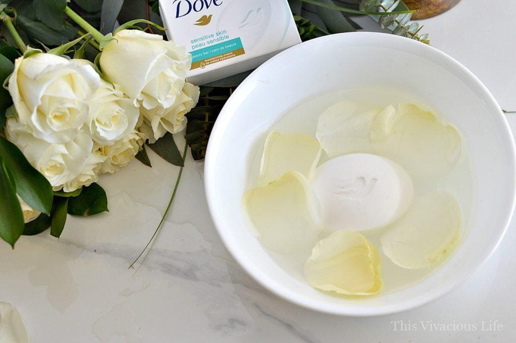 Easy, at home foot bath. We had the chance to work with Dove and share why they are a great soap for the whole family #dovepartner Collage