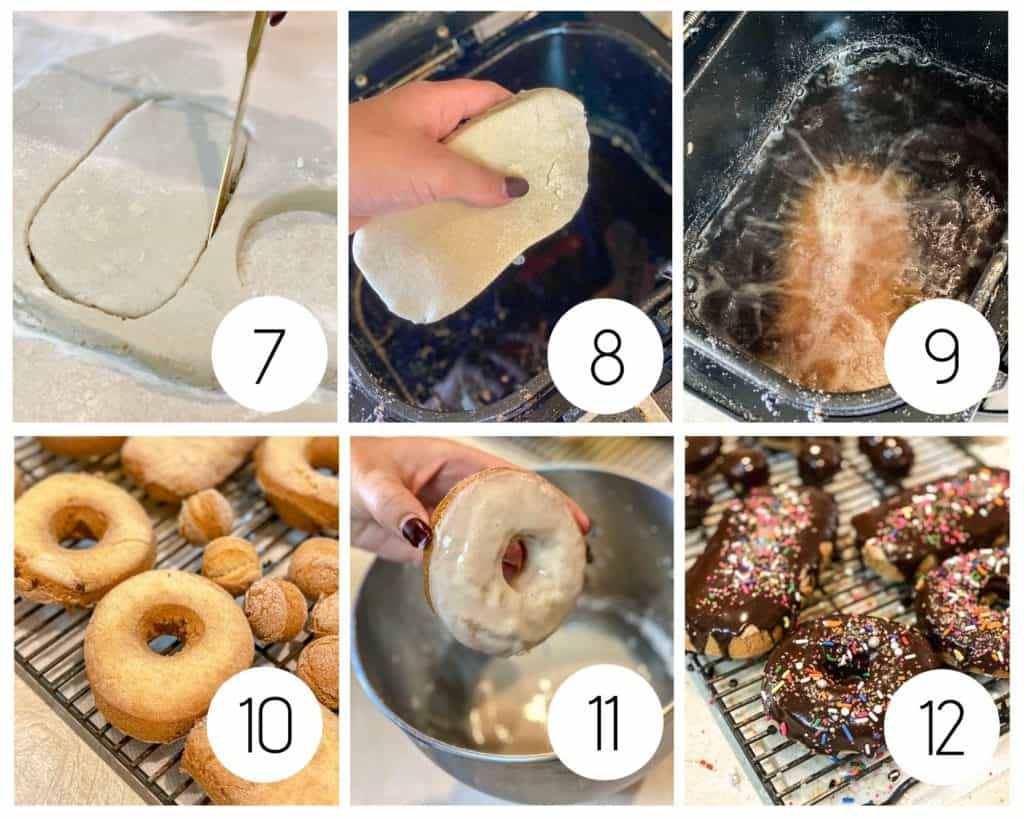 Step by step gluten-free fried donut instructions