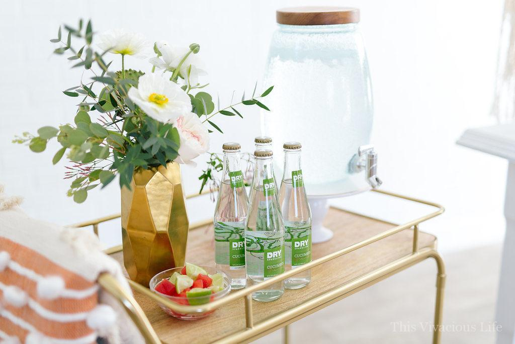 AD succulent baby shower drink cart