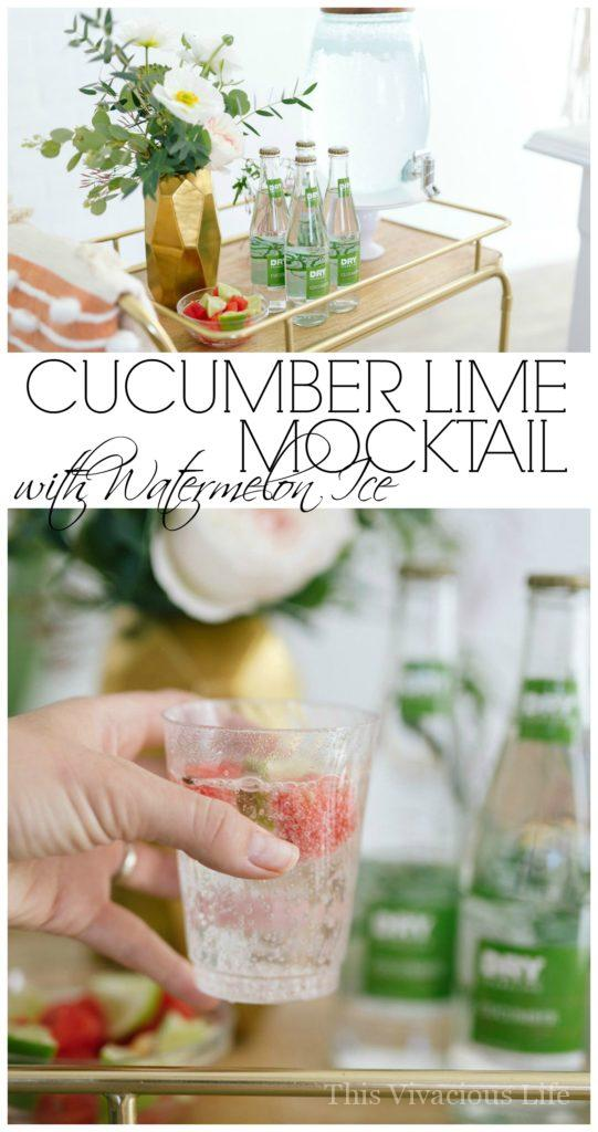 Cucumber Lime Mocktail | non-alcoholic drink recipes | mocktail recipes | baby shower drink recipes | easy mocktails | gluten-free drink recipes || This Vivacious Life #mocktails #glutenfree #drinkrecipes
