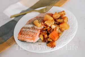 One Pan Whole30 Butternut Squash Salmon